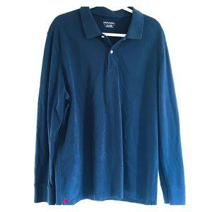 Untuckit Long Sleeve Polo Shirt Pima Cotton